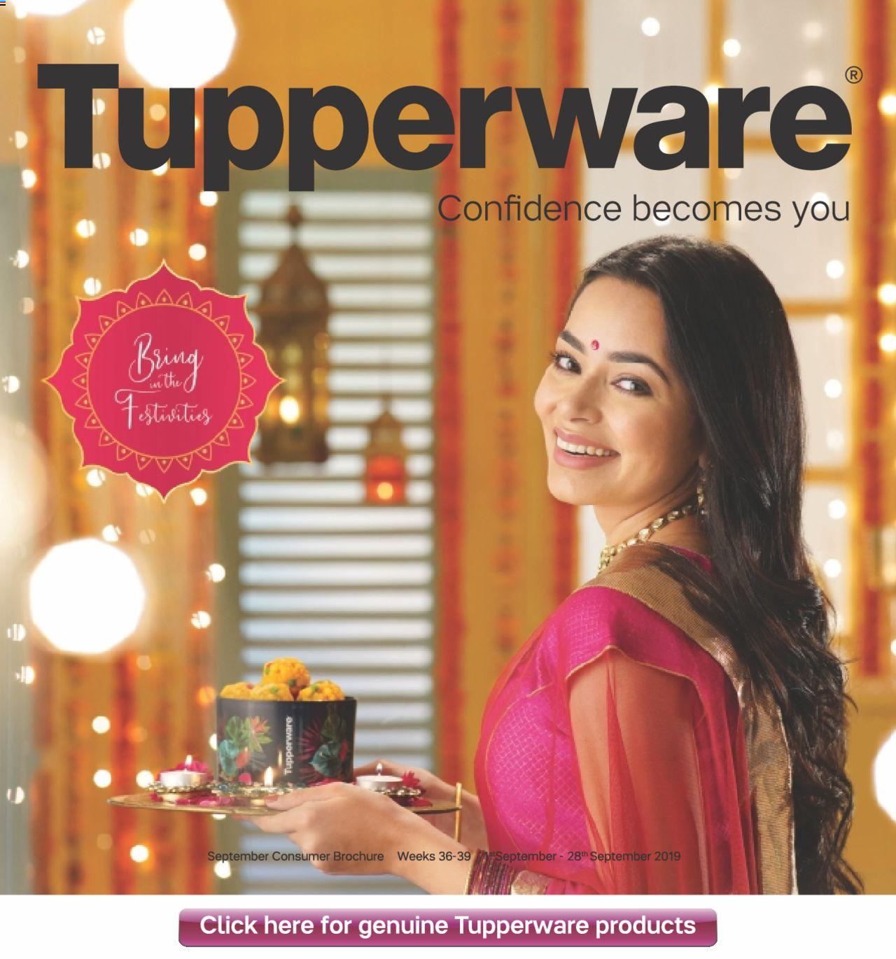 Tupperware catalogue valid from 01/09/2019 - page number 1