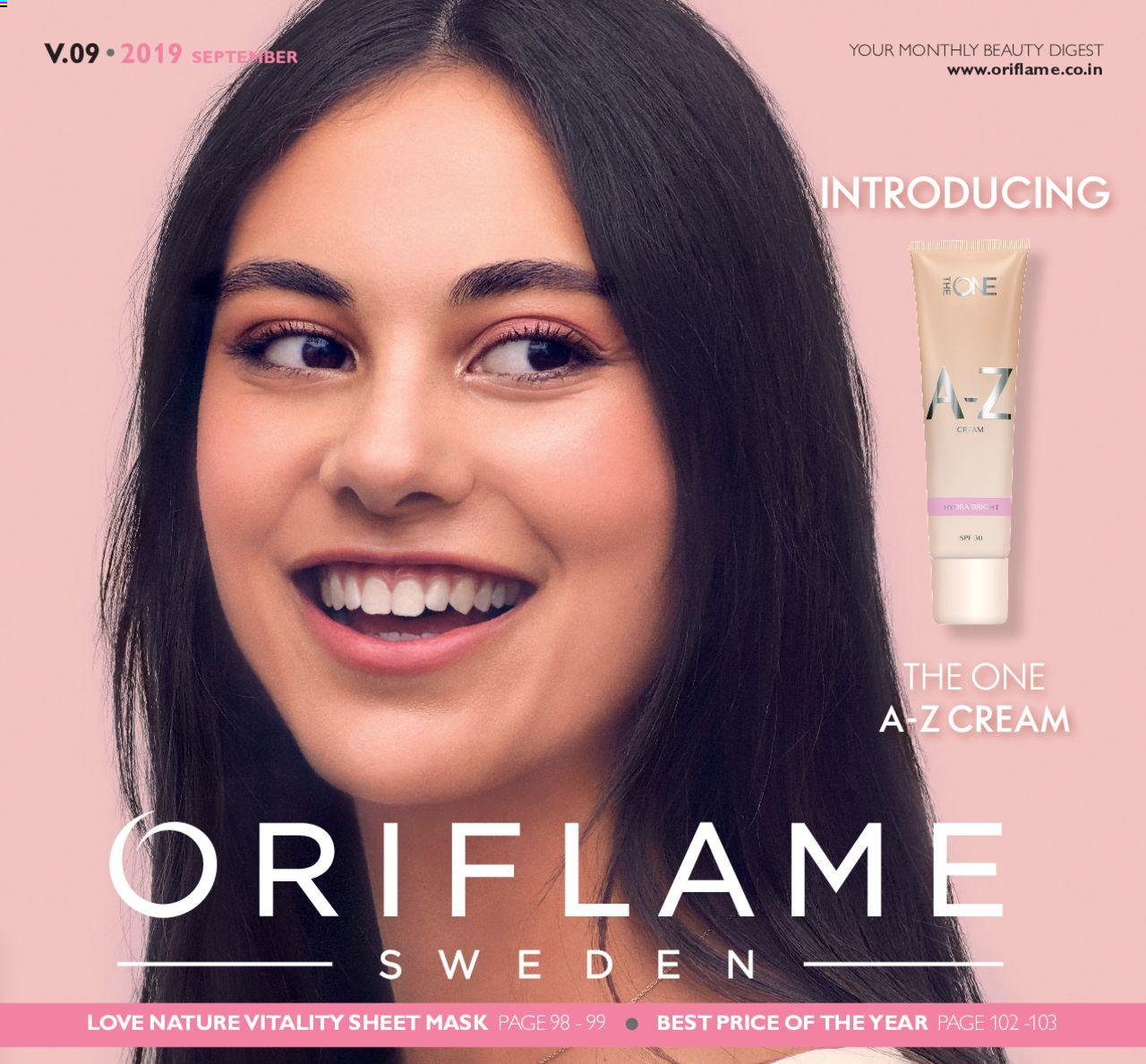 Oriflame catalogue valid from 01/09/2019 - page number 1